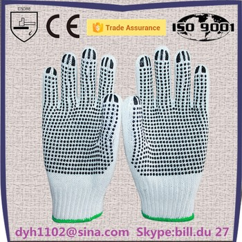 cotton products finger protectors for labor grip gloves