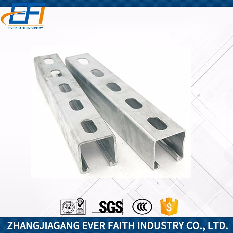 High Quality Slotted Galvanized Solar Panel Supporting C Steel Channel