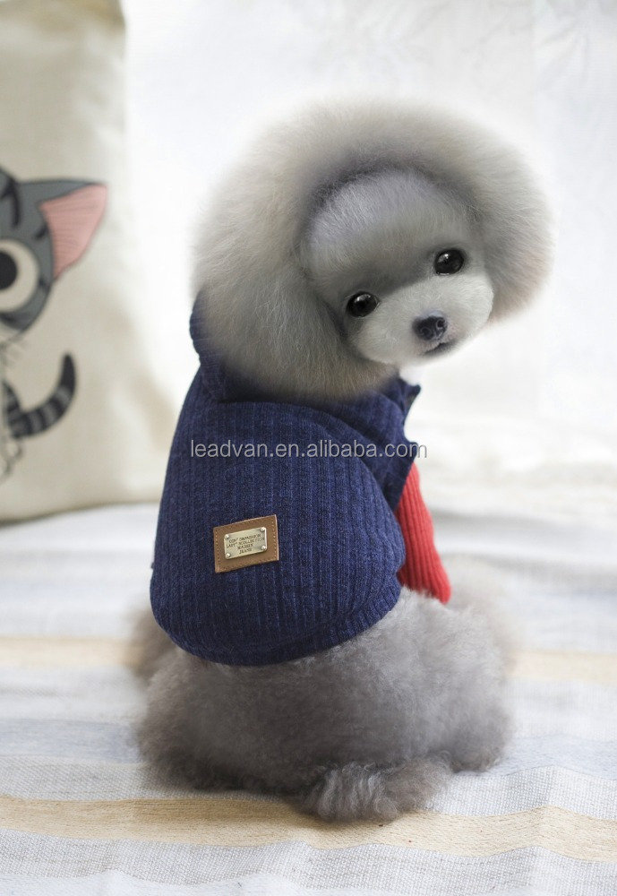 Autumn And Winter Thickening Knitted Woolen Hats With Pet Clothing Simple Style Dog Thick Coat Pet Dog Clothing