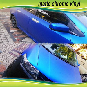 1.52*20m PVC Material Bubble Roll and Body Stickers Used Blue Matte Chrome 3m Car Vinyl Wrap
