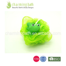 best selling bath sponge plastic frog toy