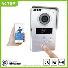 Shenzhen factory PIR sensor wifi door entry camera, app on mobile phone, 110 degree angle