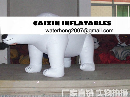 inflatable flying helium white bear balloon for advertising and event promotion