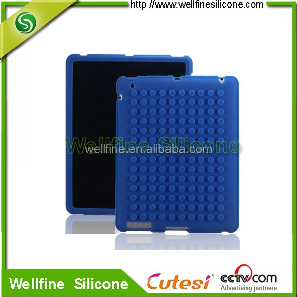 "Blocks design 10.1"" tablet silicone case with silicone screen cover"