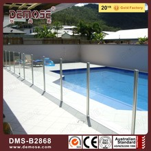 small tempered glass panels and spigot for glass pool fence