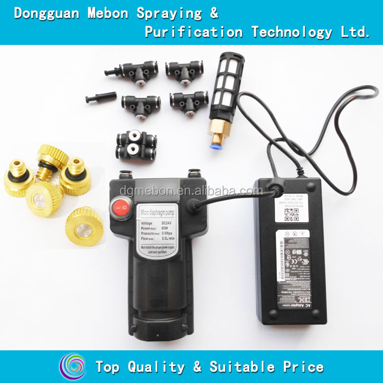 "1/4"" fitting fog cooling machine,9 bar fine mist pump system"