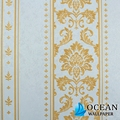 hot sell pvc material the decorative hand painted wallpaper