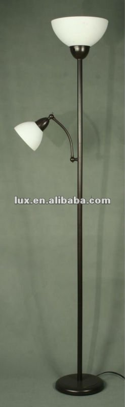 elegant floor lamp with mother and son shades