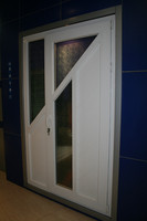 60mm series casement composit design white pvc window and door