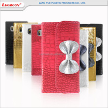 Mobile phone accessory lligator pattern wallet mobile phone leather case for samsung galaxy s i9000/tab