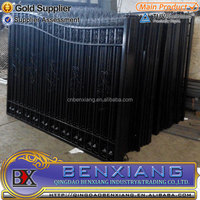 outdoor ornamental forged wrought iron fence