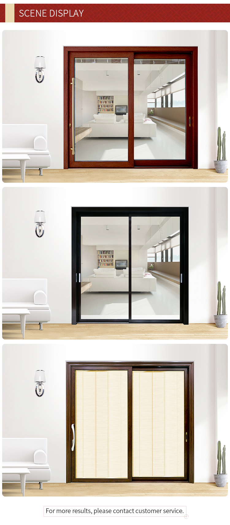 modern style cheap japanese sliding glass door