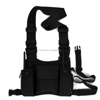 HYS Nylon Multi Function Chest Walkie Talkie Carry Case/Bag/Backpack for Police