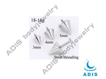 G23 titanium micro dermal anchor cone top piercing jewelry
