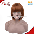 Top quality human hair brown color short bob wig for black women