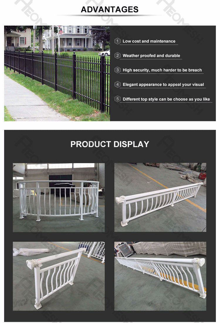 Made in Guangzhou Professional Factory Aluminum Farm Fence