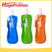 Colorful Bottles with Carabiner Clip Reusable 16oz Collapsible Water Bottles