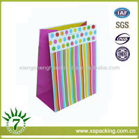 Top Sale !!! Bespoke Rainbow + White Cord Handle Printing & Packaging Recyclable Art Paper Laminated Gift Paper Bags