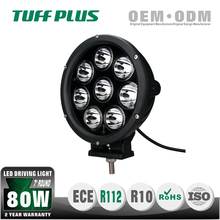 "Emark 7"" round 80w led driving light for truck offroad mining forest car bottom or side mounting"