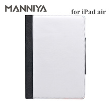 DHL Free shipping!Best JC Blank 2D sublimation foldable leather cases for ipad air