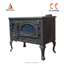 cast iron wood burning stove oven