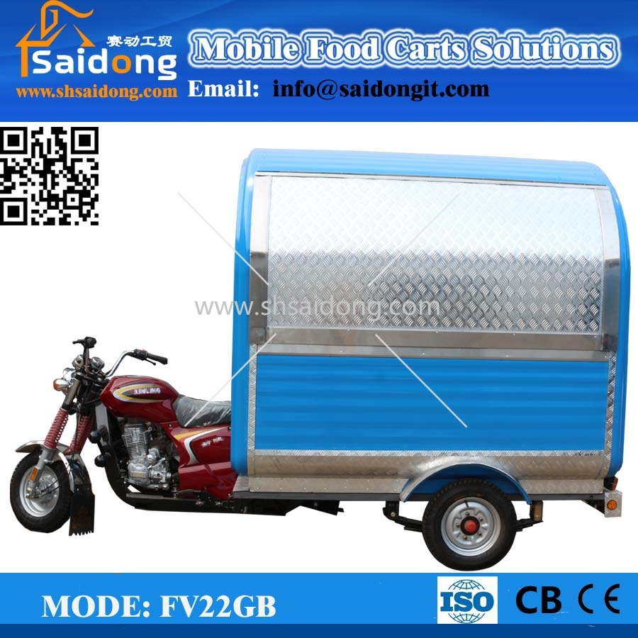 Ice Cream Tricycle Three Wheels Motorcycle China Food Cart