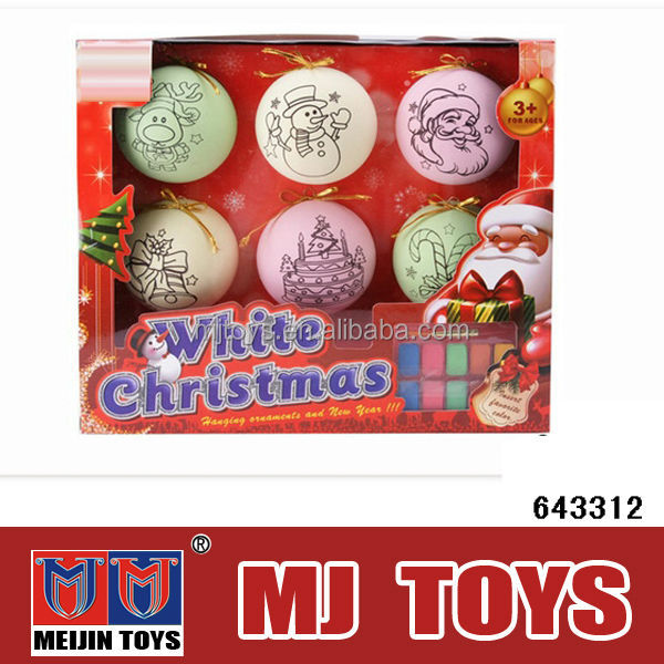 wholesale christmas decorations toy egg DIY drawing set