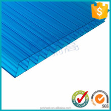Blue color polycarbonate four-wall hollow sheet for greenhouse