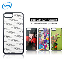 Custom pattern 2d sublimation blank mobile phone cover for iphone