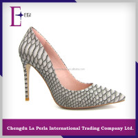 snake skin pattern high heel fancy evening shoes