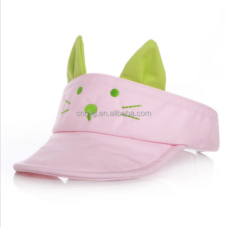 Lovely 100% cotton high quality cat design baby hat and cap with low price
