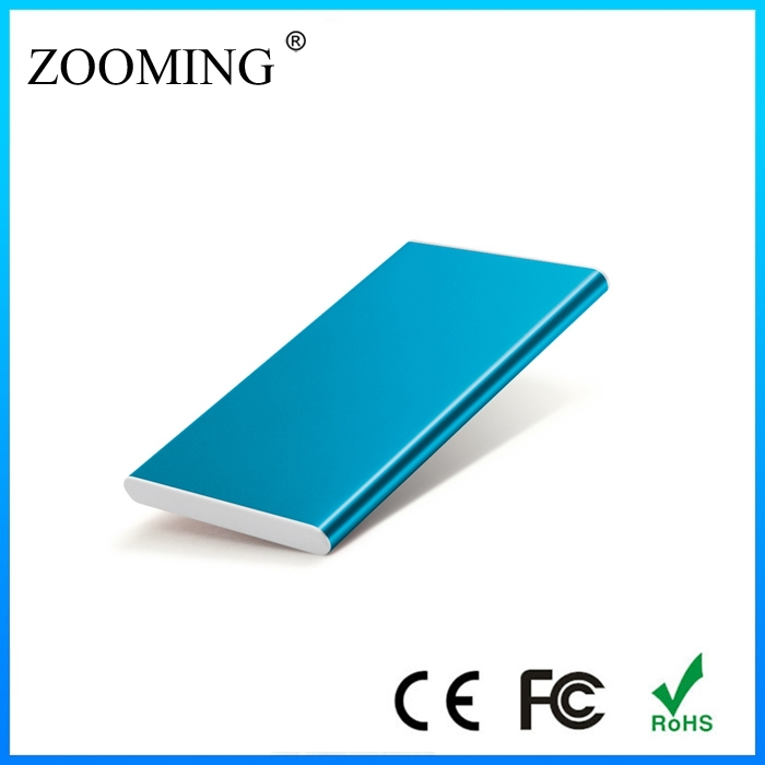 Ultra Slim Credit Card Size Aluminum 2600mAh External Battery Pack Portable Battery Charger Backup Charger