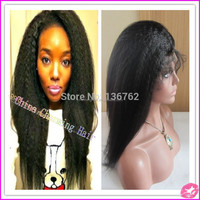 8a grade afro kinky straight human hair wigs coarse yaki virgin malaysian kinky straight remy full lace wigs with baby hair