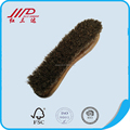 Foot shape wood shoe brush cleaning tools for home, horse hair boots cleaner
