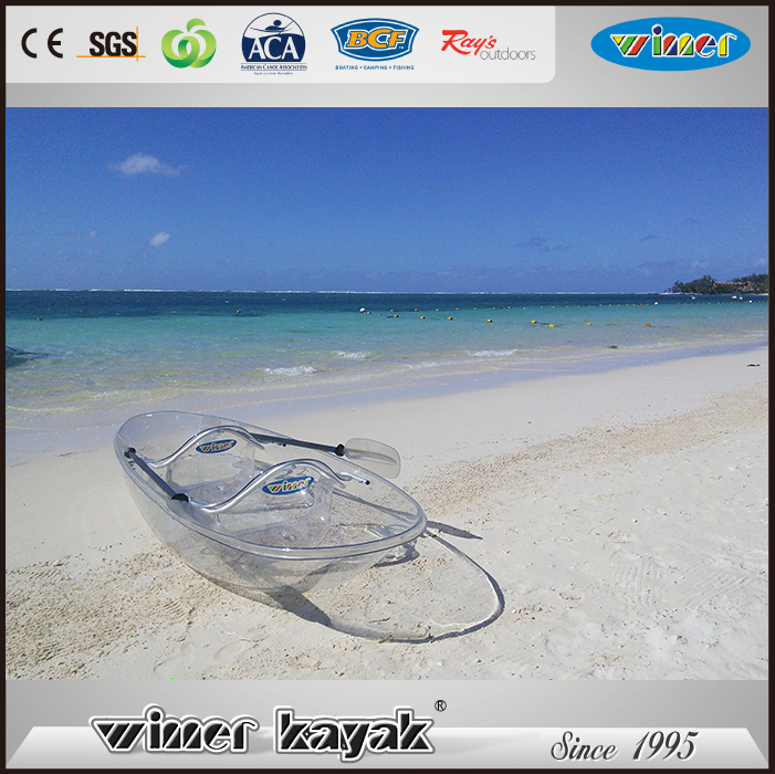 100% Transparent High quality best price used not inflatable sea double kayak for sale