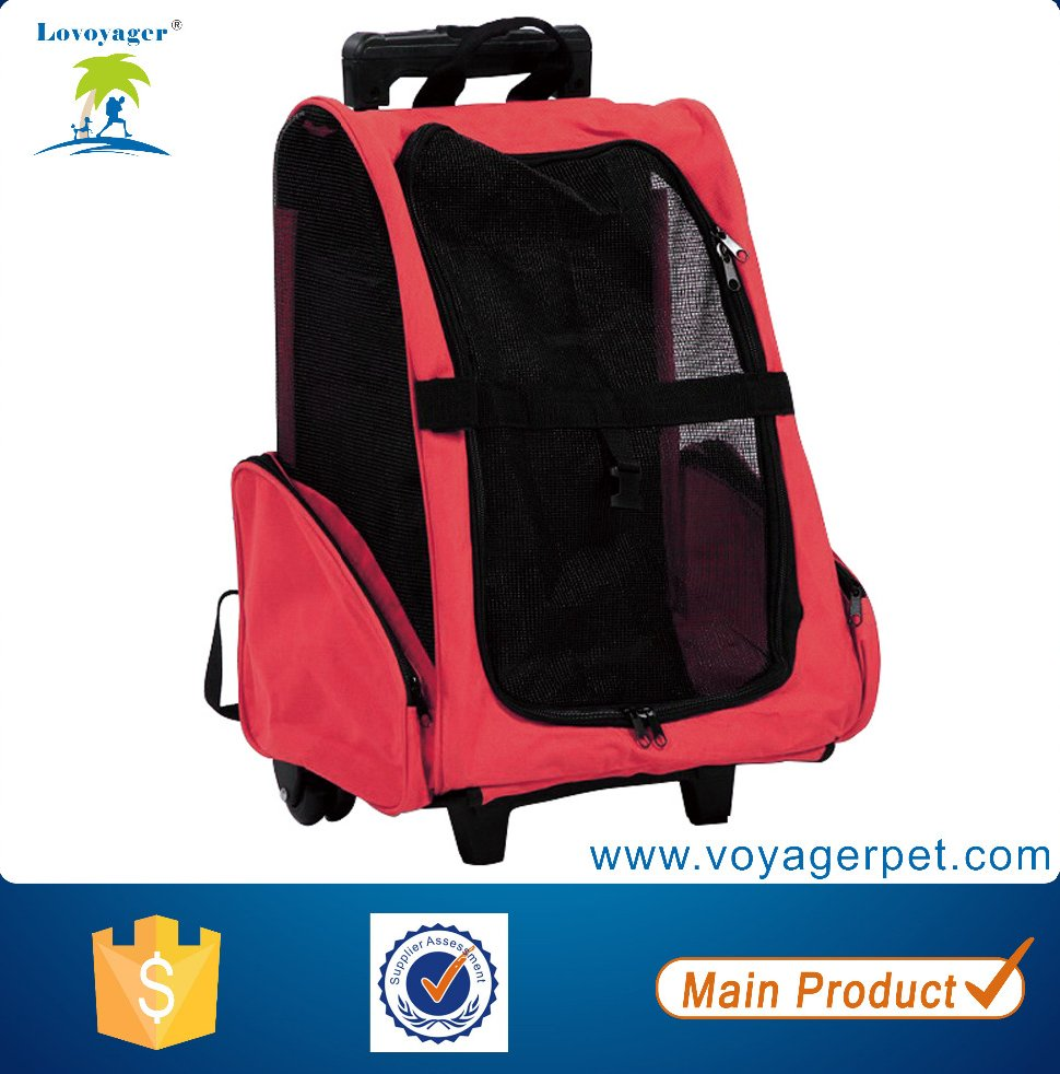 Wheel Pet / Dog/cat Travel Carrier Stroller Backpack Airline Bag Handle
