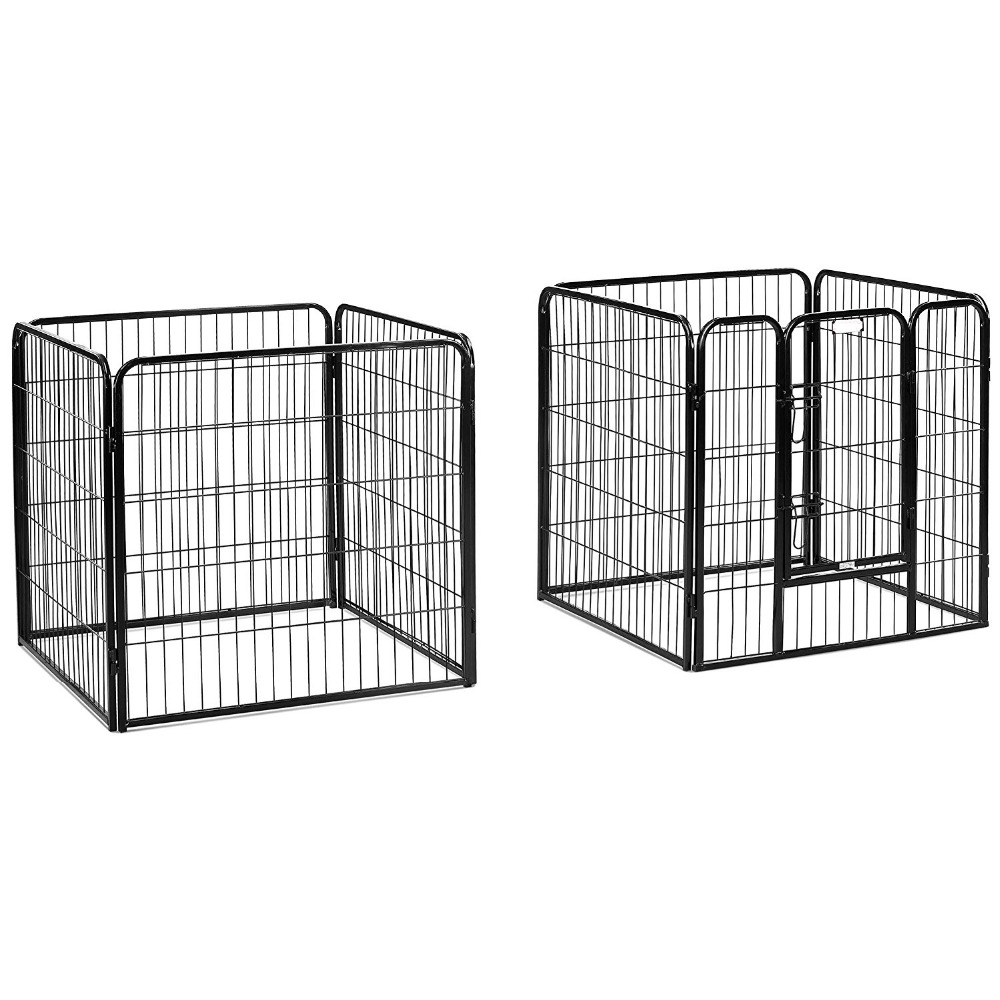 8 Panels folding Pet Playpen Dog Pets Fence Exercise Pen Gate with Door