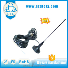 2016 Newest UHF car TV Antenna for 2 Din Car Dvd Player,wireless antenna for tv