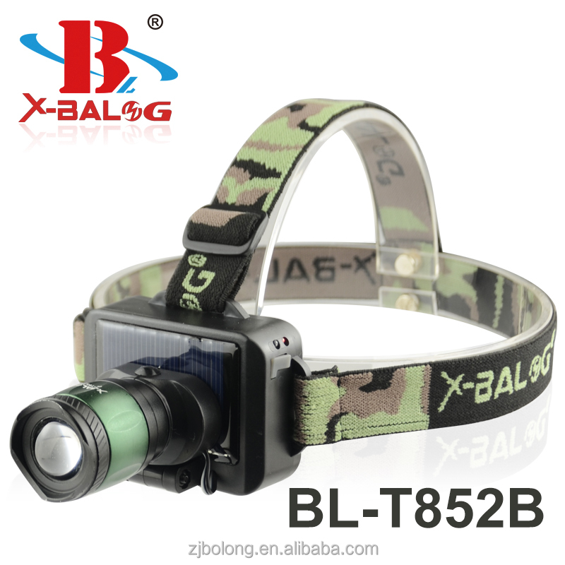 BL-T852B Solar rechargeable headlight for emergency rescue
