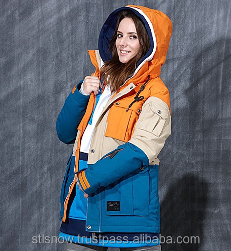 2014/2015 High quality waterproof 20000mm ski & snowboard jacket, Opera Orange/Beige/Blue