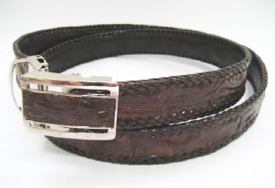 "Crocodile Leather Belt (1.5"" wide)"