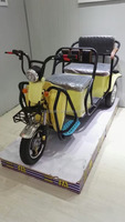 48v 500w foldable electric trike tricycle with strong LED headlight both for passenger and cargo for sale