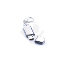 Corporate Gift High Speed Oval Aluminum USB Memory Flash Drive Smooth Style