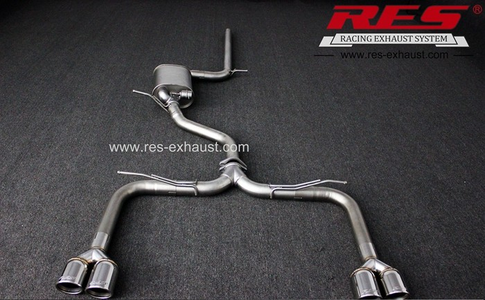 Best price gr2 titanium exhaust pipe for Audi A3 catback from China manufacturer