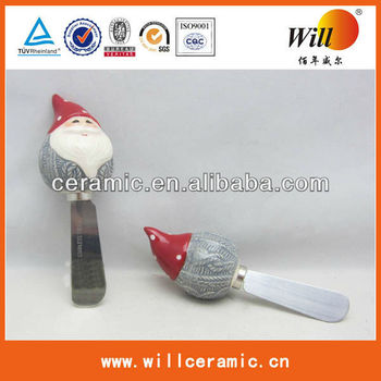 ceramic christmas butter knife