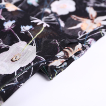 2018 silk chiffon fabric with floral print for woman dress