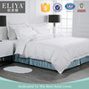 ELIYA 100% Cotton 300TC 3cm Stripe Plain White Hotel Bed Linen