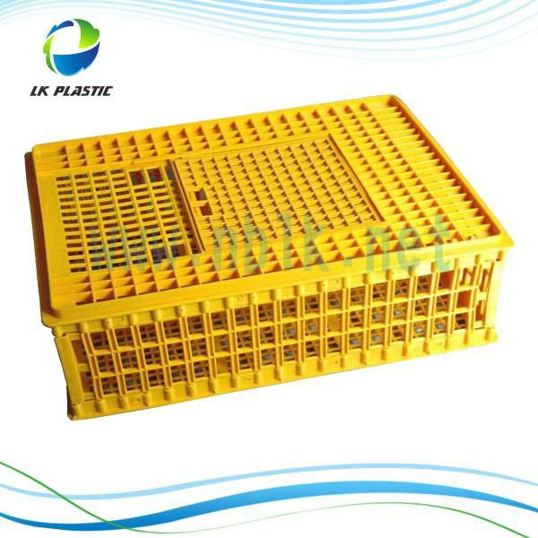 Low cost plastic transport crate/cage for chicken