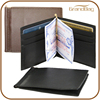 New Fashion High Quality Card Slot Genuine Smooth Plain Calfskin Cowhide Leather Money Clip Wallet Bifold Short Wallet for Men