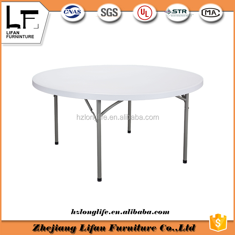 5ft simple office camping folding round plastic table top